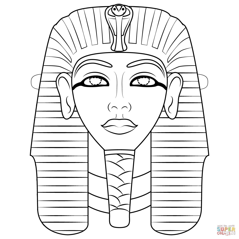 Egyptian Mask Coloring Page | Free Printable Coloring Pages - Free Printable Egyptian Masks