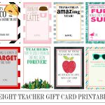 Eight Instant Download Teacher Gift Card Printables   Crisp Collective   Thanks A Latte Free Printable Card
