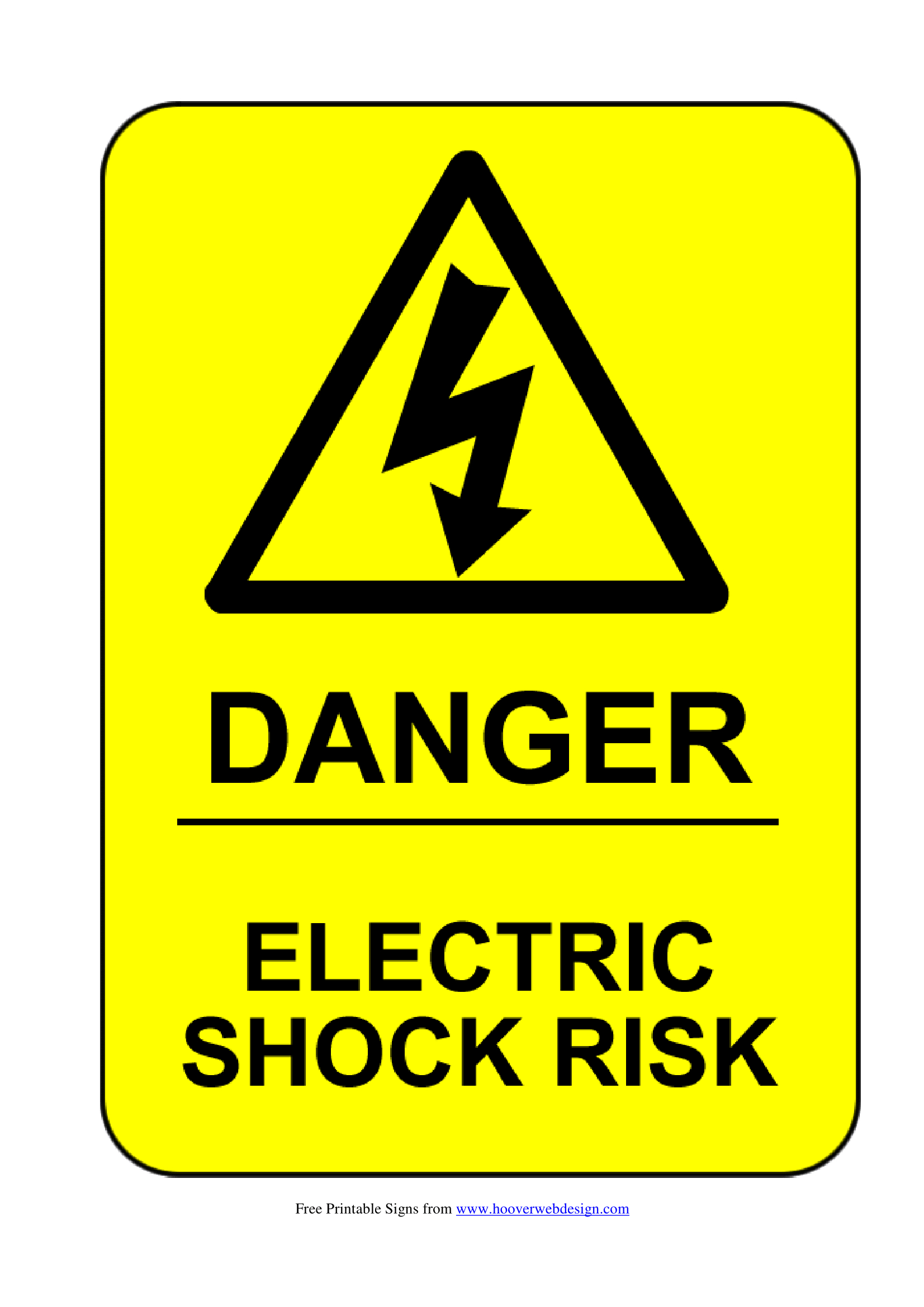 Electrical Safety Signs | Poster Template - Free Printable Health And Safety Signs