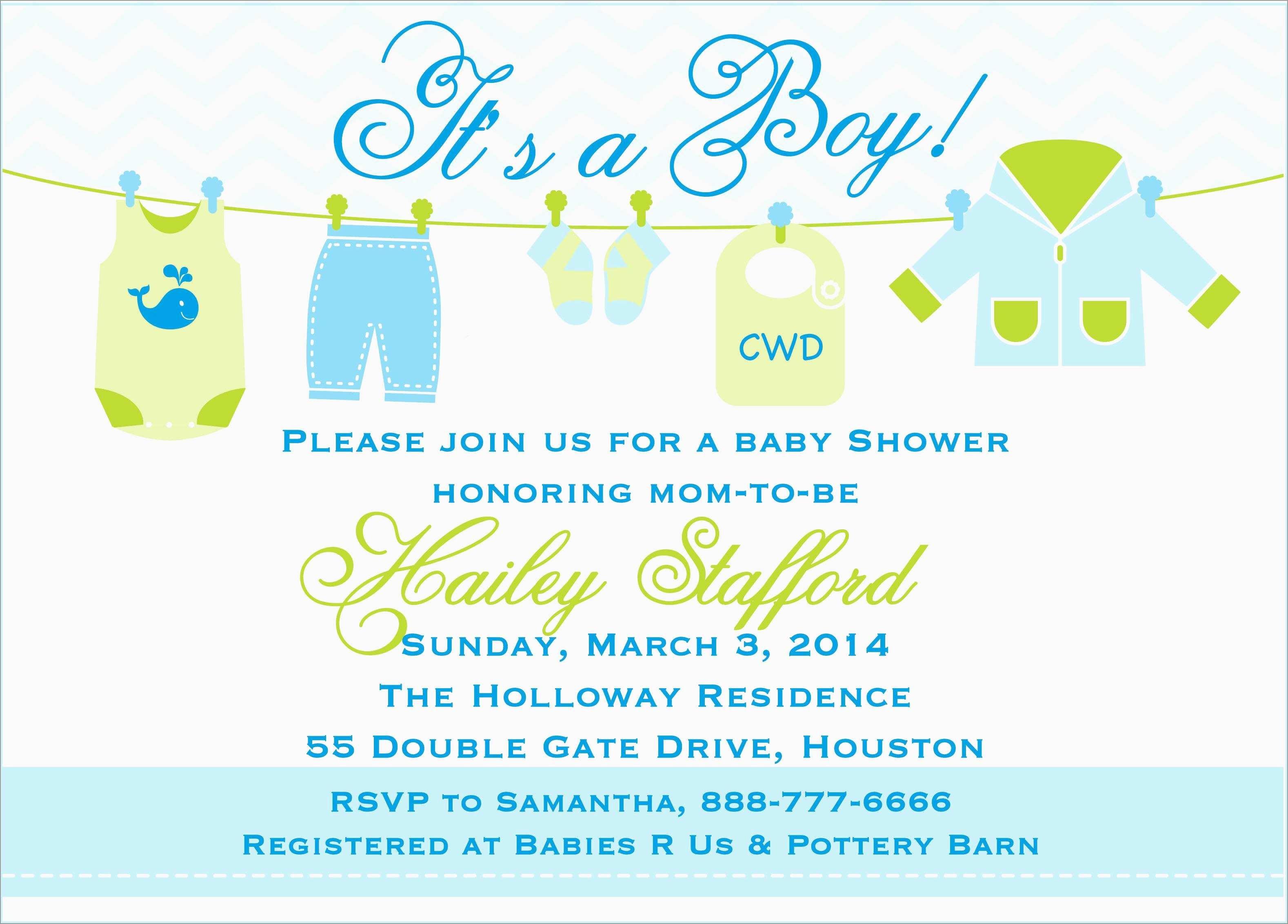 Elegant Free Printable Baby Shower Invitations Templates For Boys - Baby Shower Invitations Free Printable For A Boy