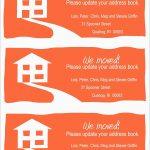 Elegant Free Printable Moving Announcement Templates | Best Of Template   Free Printable Moving Announcement Templates