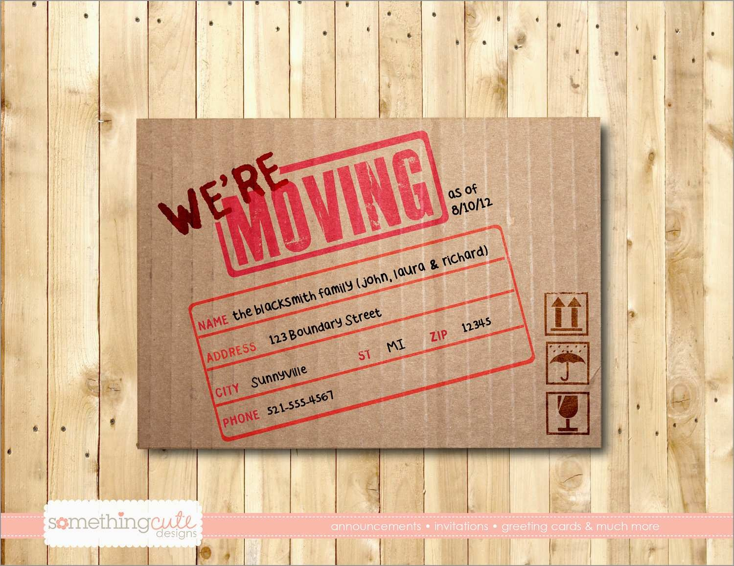 Elegant Free Printable Moving Announcement Templates | Best Of Template - We Re Moving Cards Free Printable