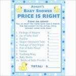 Elegant Price Is Right Baby Shower Game Free Template | Best Of Template   Free Printable Price Is Right Baby Shower Game
