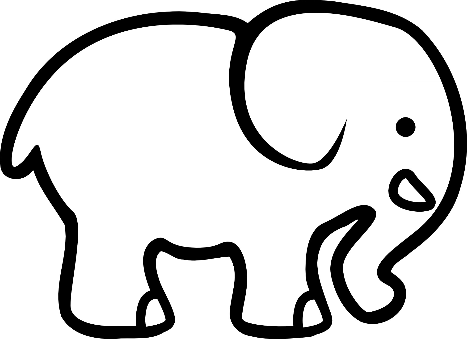 Elephant Coloring Pages | Free Download Best Elephant Coloring Pages - Free Printable Elephant Pictures