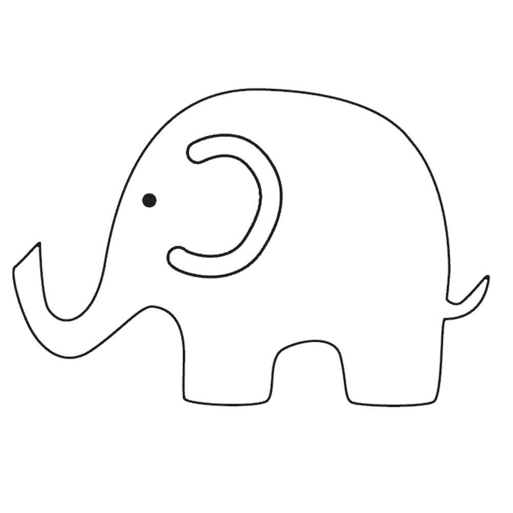 Elephant Printables   Templates Elephant Pictures   Baby Shower - Free Printable Baby Elephant Template