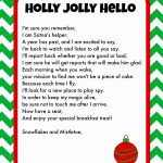 Elf Letterhead Template Free Printable Elf On The Shelf Letter   Free Printable Elf Stationery