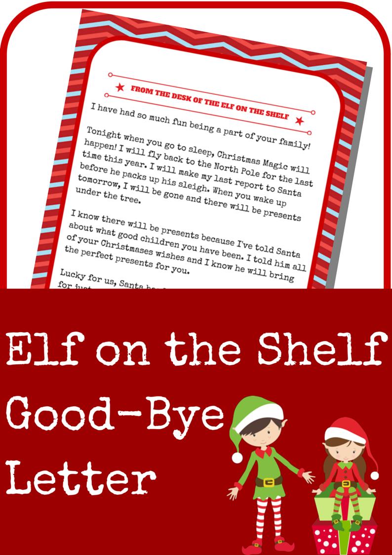 Elf On The Shelf Good-Bye Letter - A Grande Life - Goodbye Letter From Elf On The Shelf Free Printable