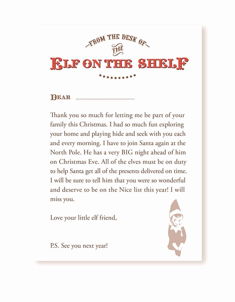 Elf Shelf Letterhead 15 Helpful Elf On The Shelf Goodbye Letters - Goodbye Letter From Elf On The Shelf Free Printable
