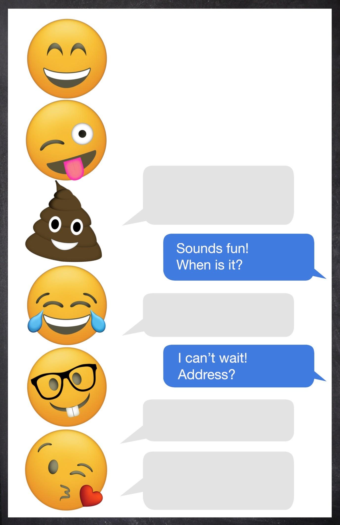 Emoji Birthday Invitations Free Printable Template - Paper Trail Design - Free Emoji Party Printables
