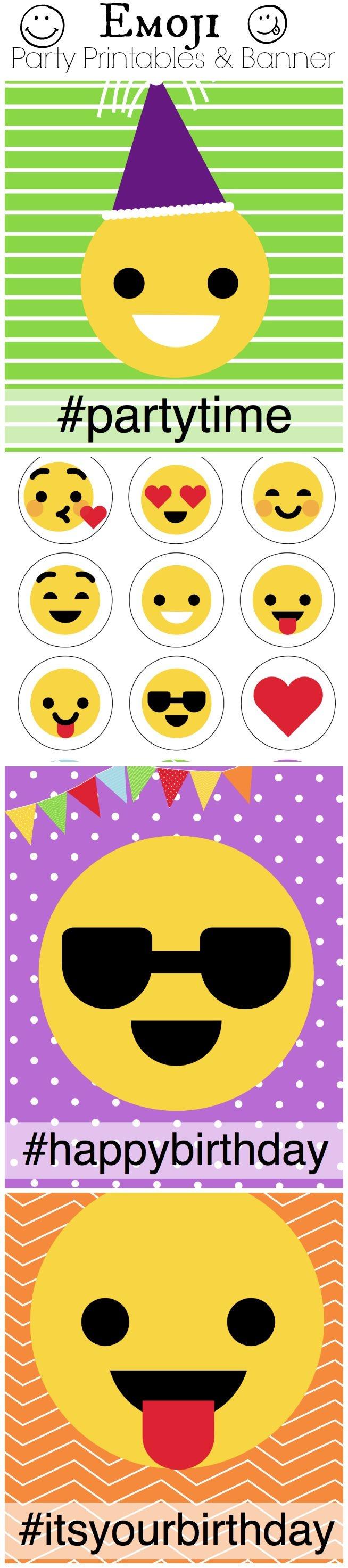 Emoji Birthday Party - Capturing Joy With Kristen Duke - Free Emoji Party Printables