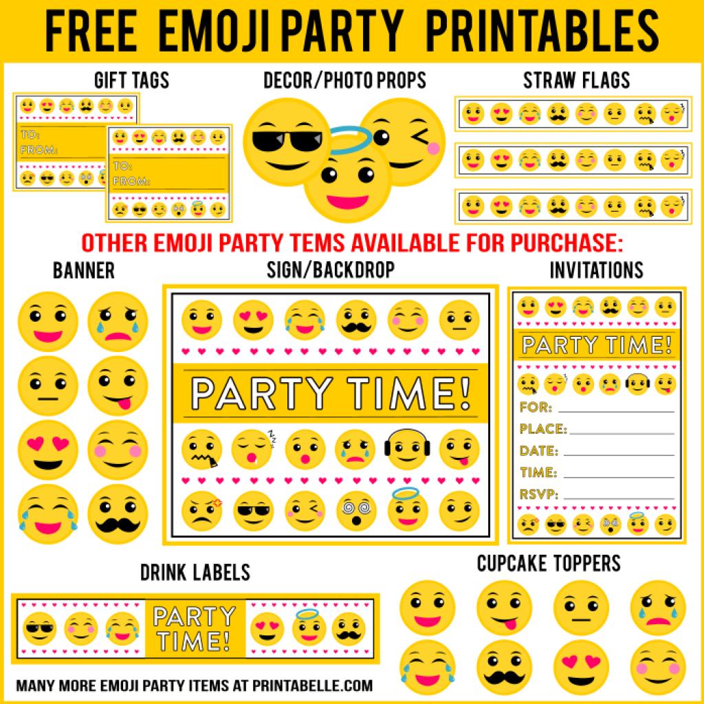 Emoji Birthday Party Printables | Emoji Birthday Party | Emoji Theme - Free Emoji Party Printables