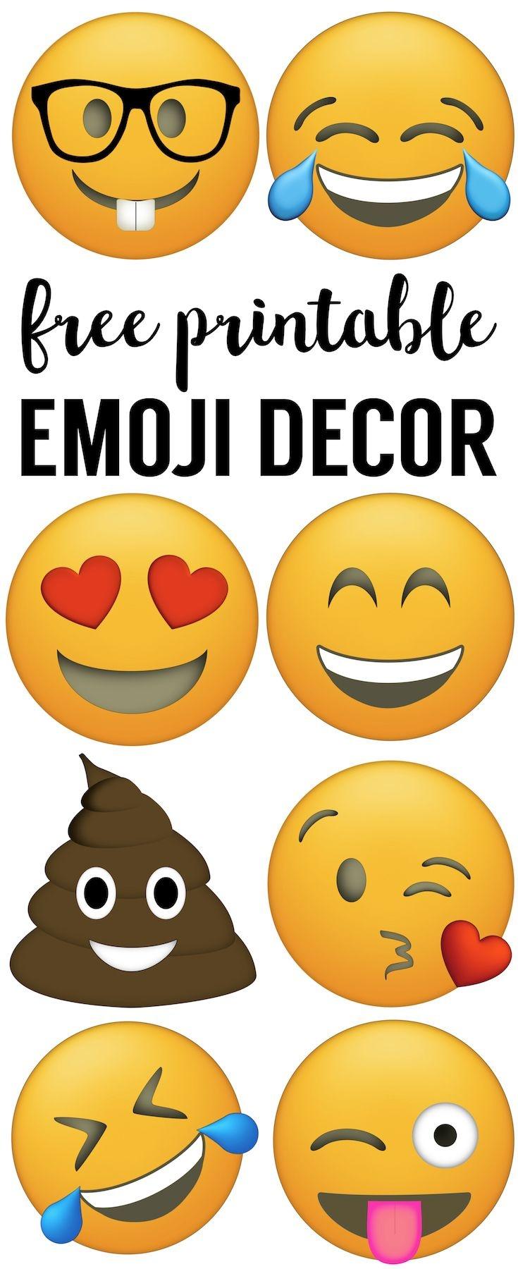 Emoji Faces Printable {Free Emoji Printables} | Kingston Emoji - Free Emoji Party Printables