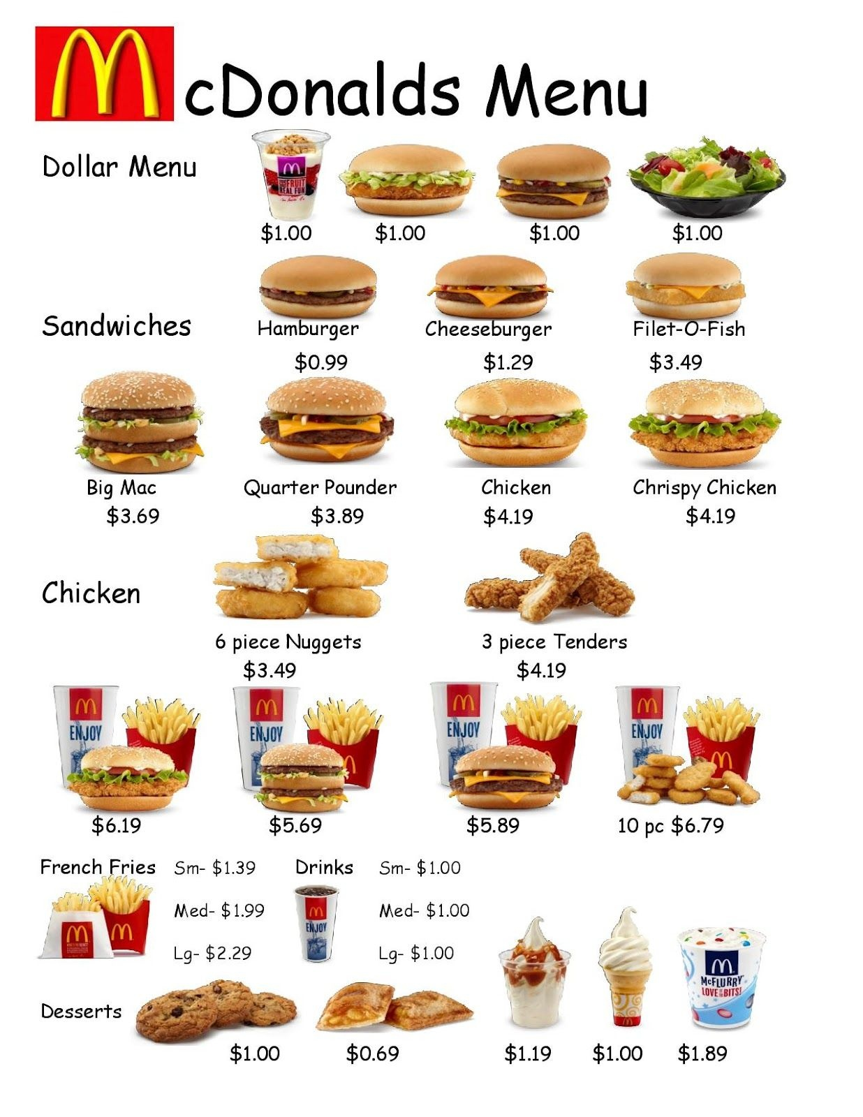 Empoweredthem: Fast Food Worksheet 1 | Learning Life Skills - Free Printable Menu Math Worksheets
