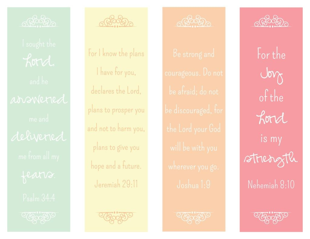 Encouraging Verses Bookmark - The Paper Vine | Education | Printable - Free Printable Bookmarks With Bible Verses