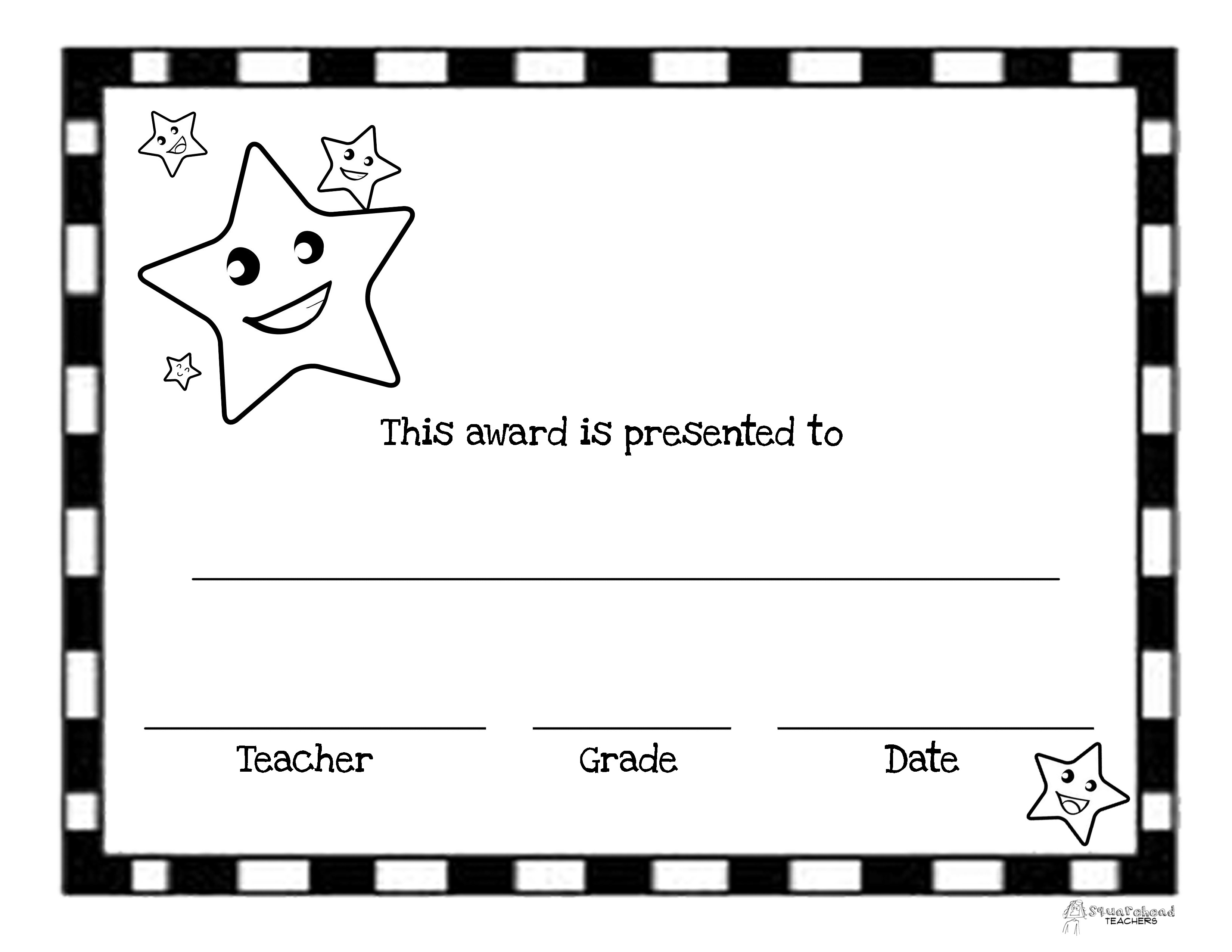 End Of The Year Awards (44 Printable Certificates) | Squarehead Teachers - Free Printable School Achievement Certificates