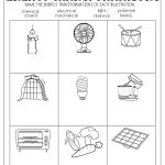 Energy Transformations Worksheet | Subject Teaching | Energy   Free Printable Heat Transfer Worksheets