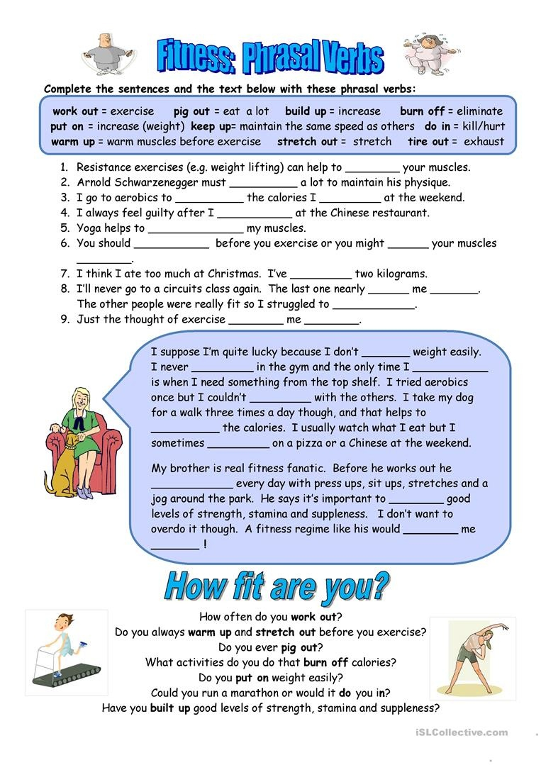 English Esl Fitness Worksheets - Most Downloaded (11 Results) - Free Printable Fitness Worksheets