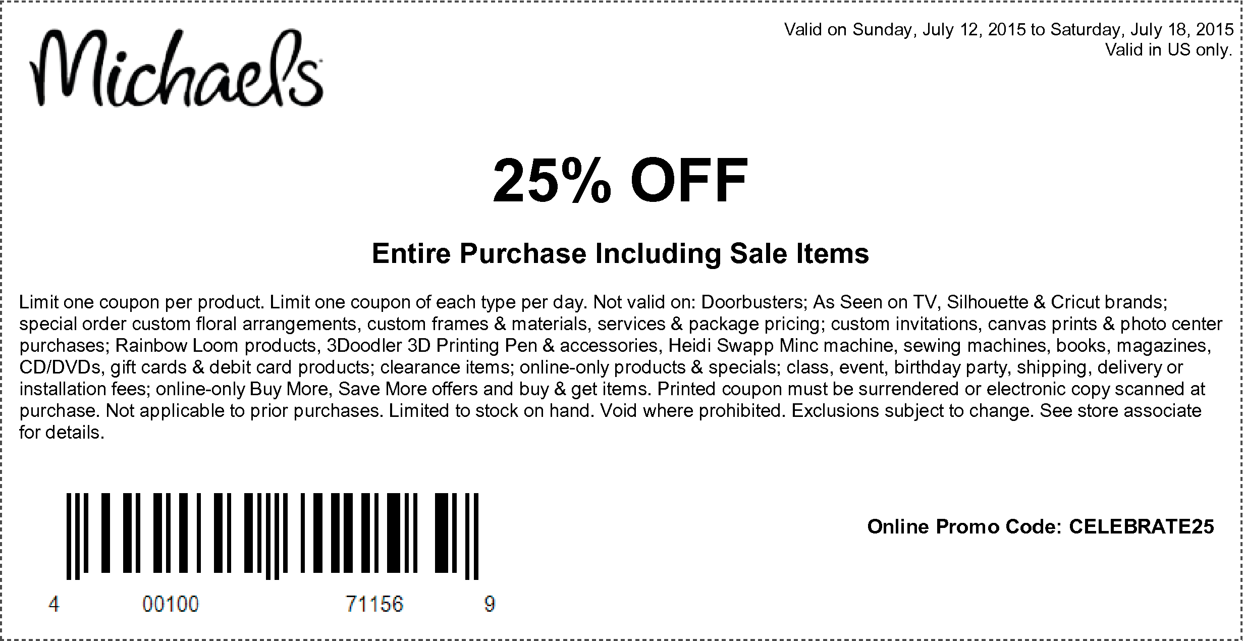 Entire Purchase Including Sale Items | Stuff To Buy | Free Printable - Free Printable Michaels Coupons
