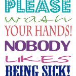 Evening Birdsong: Wash Your Hands Printable   Free Wash Your Hands Signs Printable