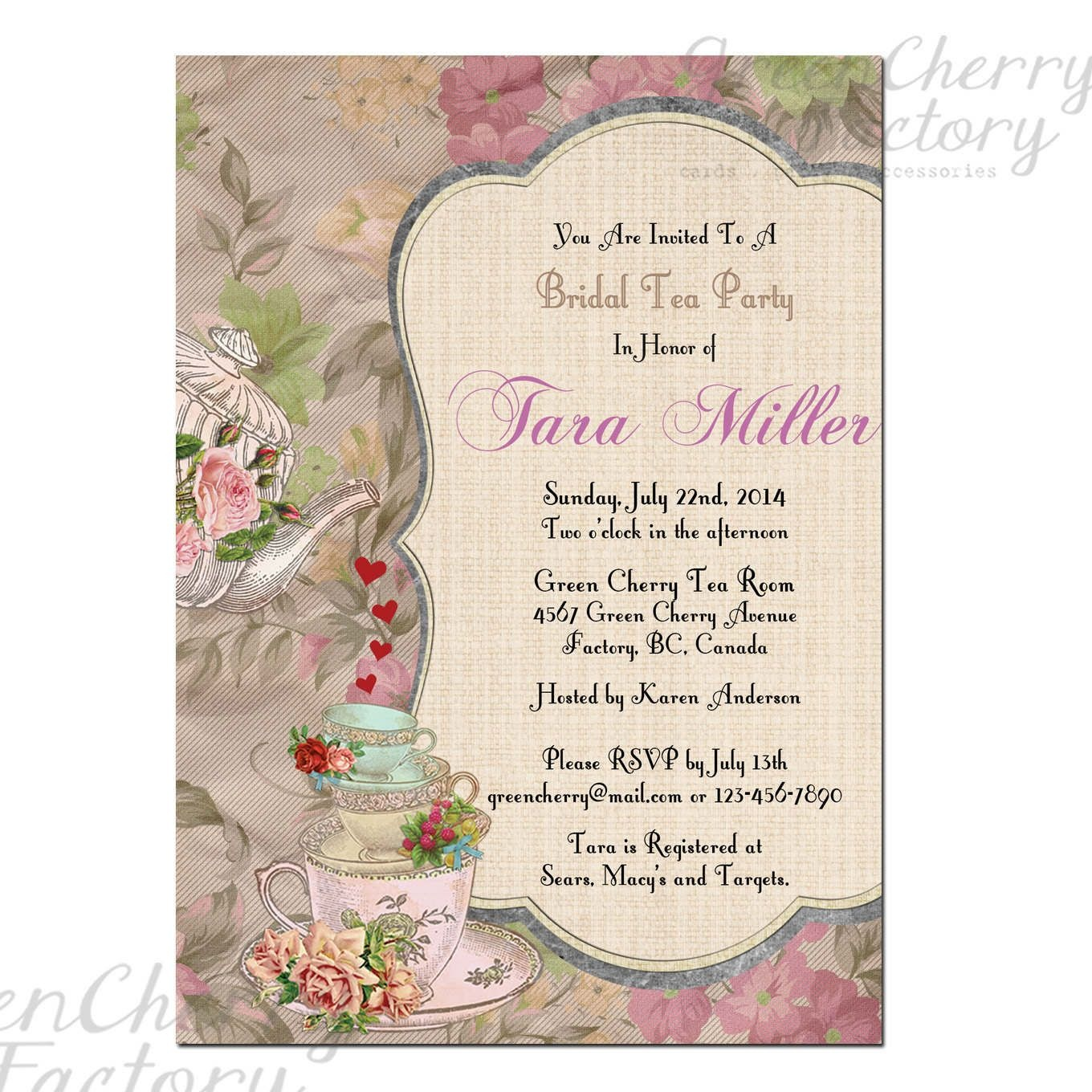 Event Invitation Card Template Free Awesome Free Christmas Party - Free Printable Vintage Tea Party Invitations