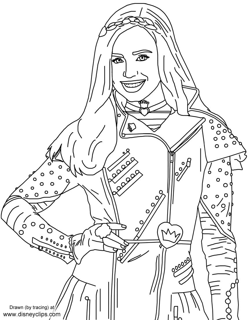 Evie From Disney's #descendants | Free Printables | Descendants - Free Printable Descendants Coloring Pages