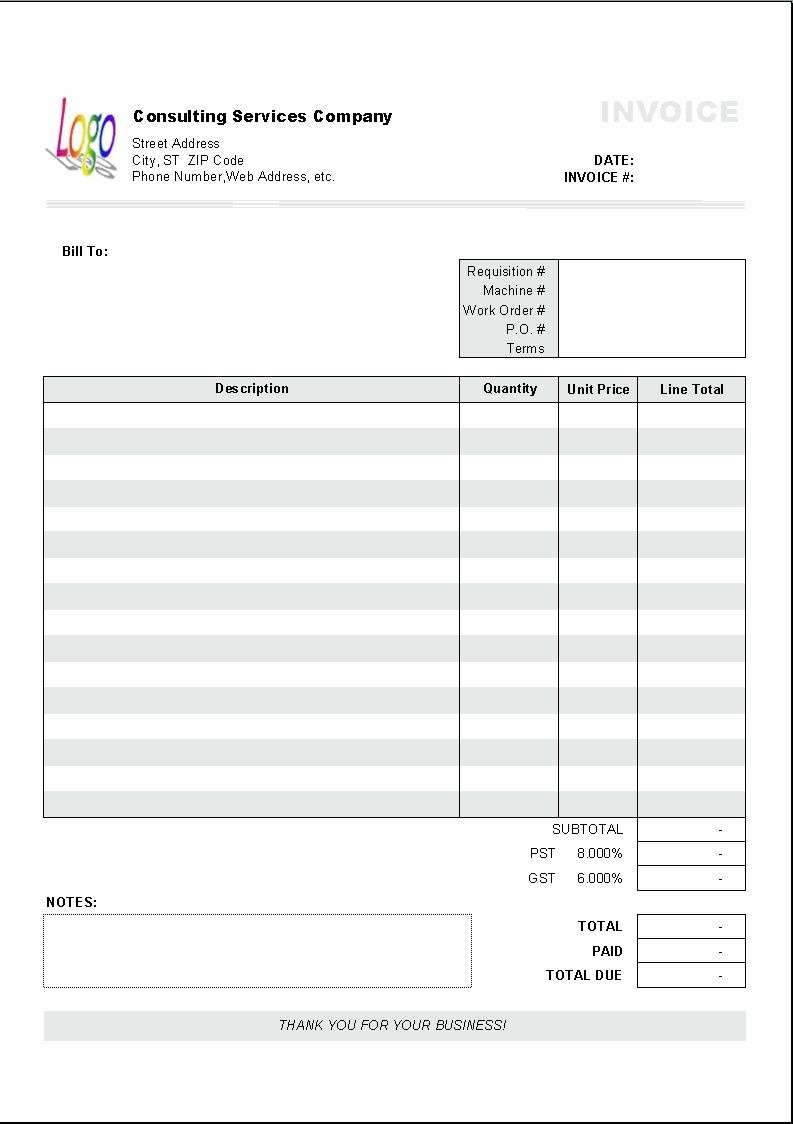 Excel Based Consulting Invoice Template Excel Invoice Manager - Free Printable Invoice Template Excel
