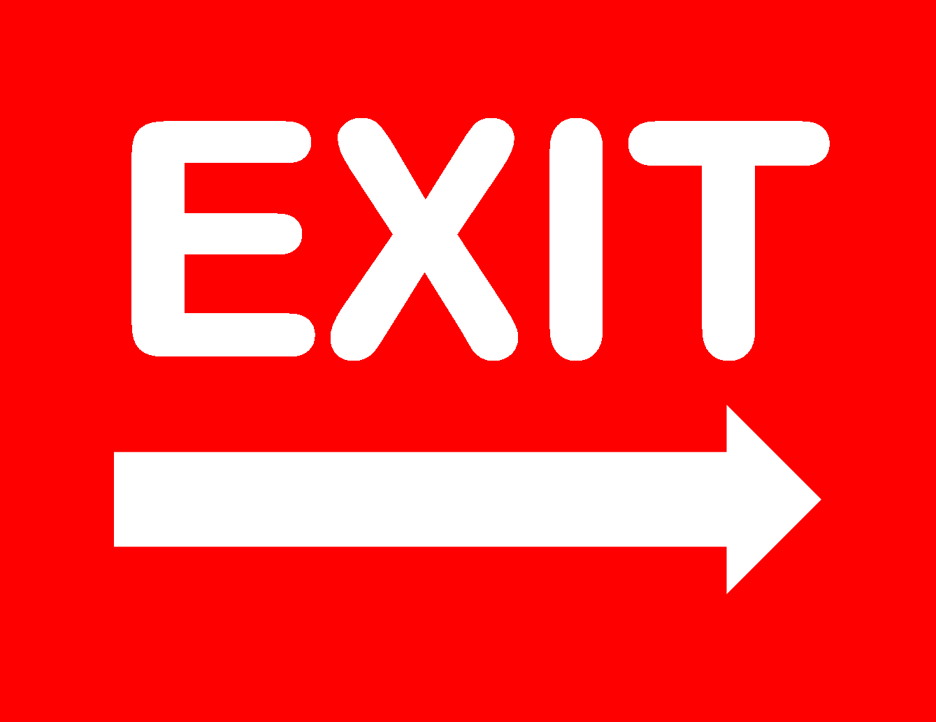 Exit Sign - Free Printable Exit Signs With Arrow