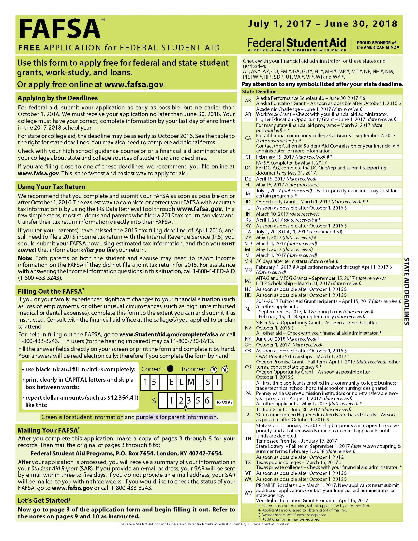 Fafsa Form Archive: Recent Changes   Edvisors - Free Printable Fafsa Application Form