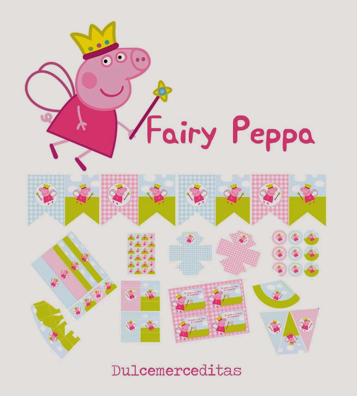 Fairy Peppa Pig Free Printable Kit. | Kris Needs This | Peppa Pig - Peppa Pig Free Printables