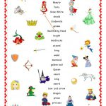 Fairy Tales.matching. Worksheet   Free Esl Printable Worksheets Made   Free Printable Disney Stories