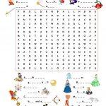 Fairy Tales.wordsearch Worksheet   Free Esl Printable Worksheets   Free Printable Disney Stories