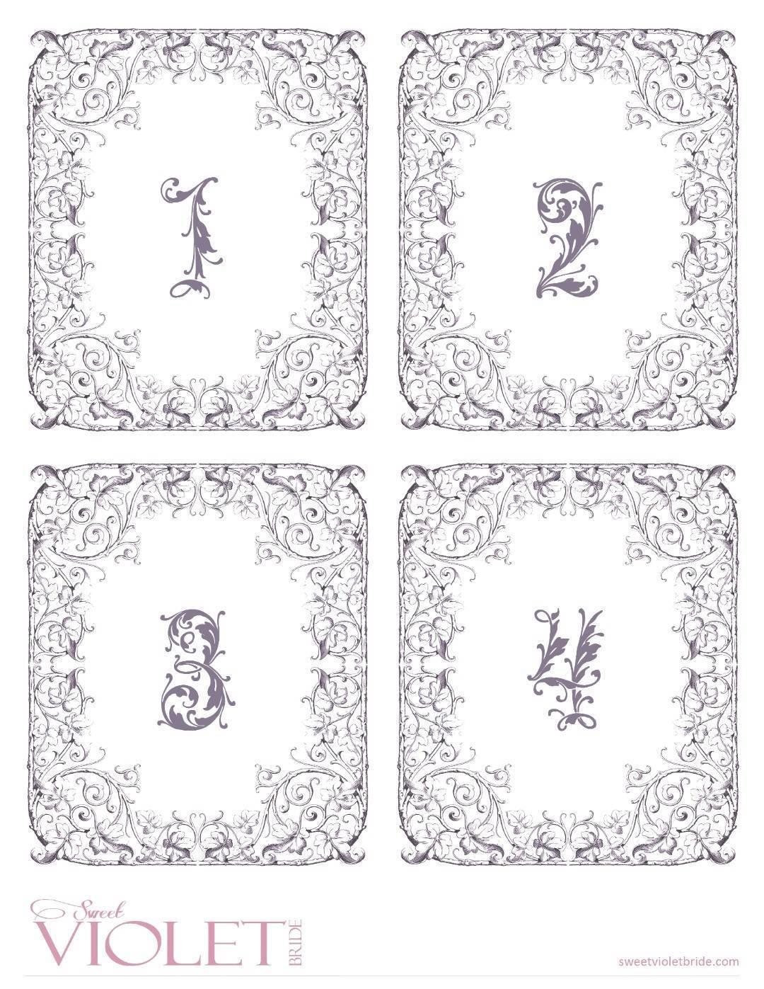Fairytale Table Numbers: Free Wedding Printable - Bridalpulse - Free Printable Table Numbers 1 20