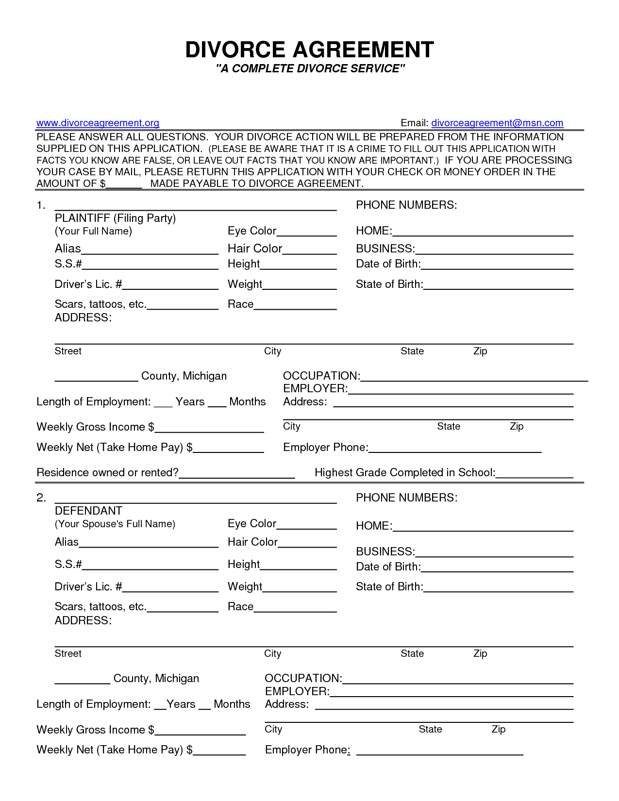 Fake Divorce - Tutlin.psstech.co - Free Printable Divorce Papers For Illinois