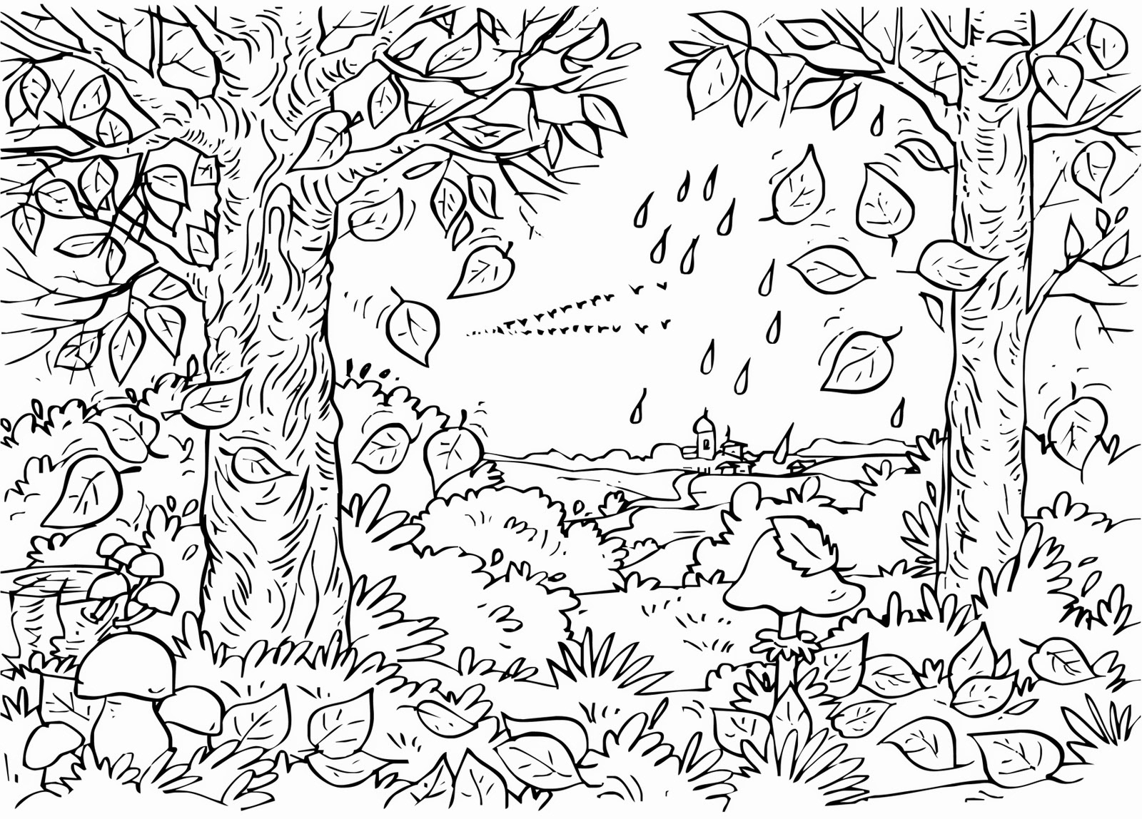 Fall Coloring Pages For Adults - Best Coloring Pages For Kids - Free Printable Fall Coloring Pages For Adults