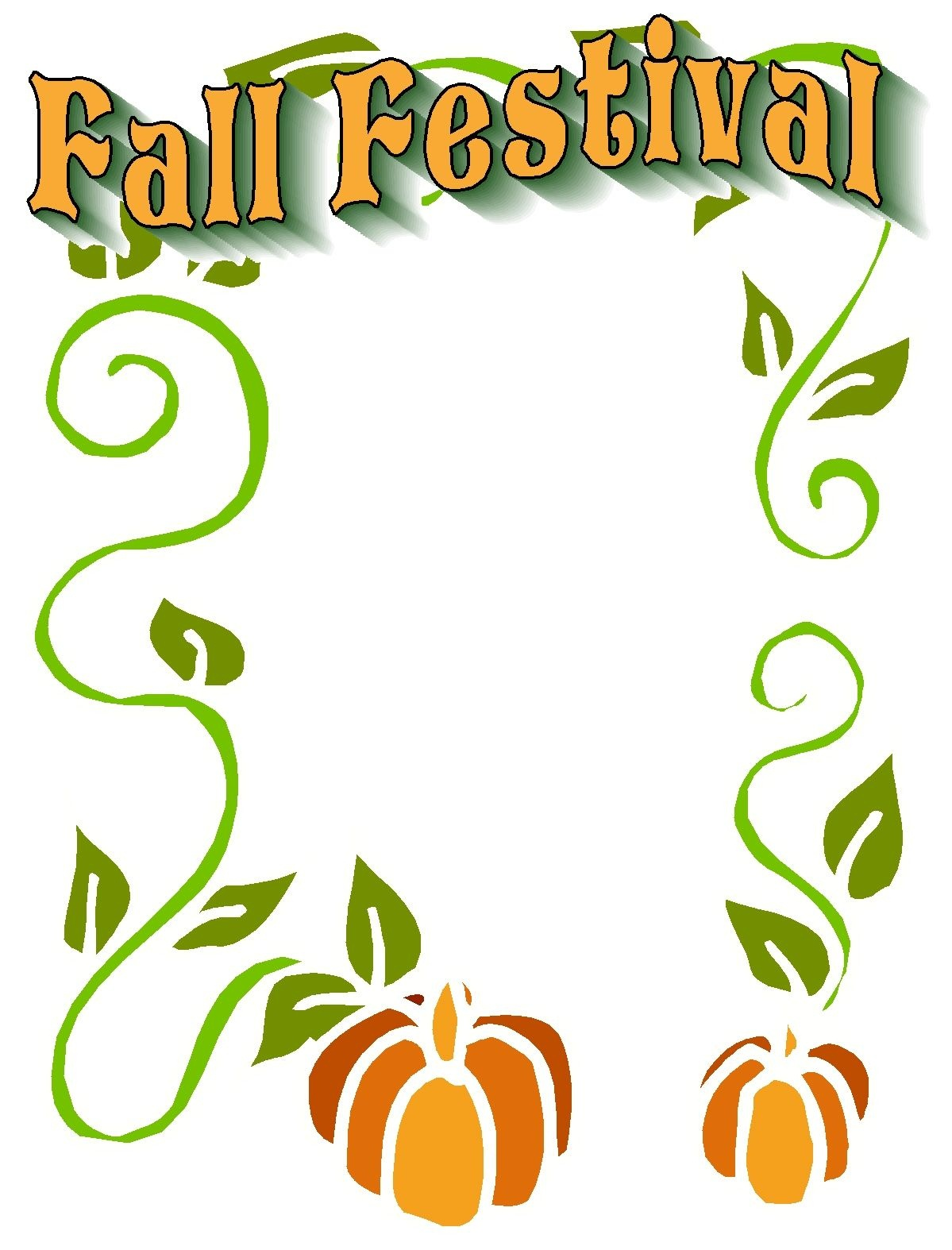 Fall Festival Graphics | Christian Images In My Treasure Box: Fall - Free Printable Fall Festival Flyer Templates