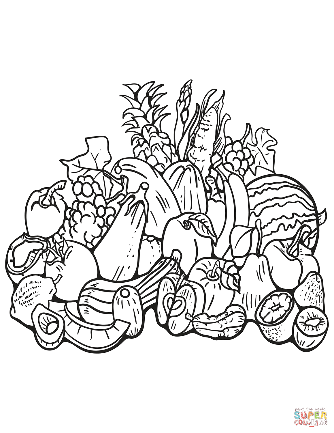 Free Printable Fall Harvest Coloring Pages | Free Printable
