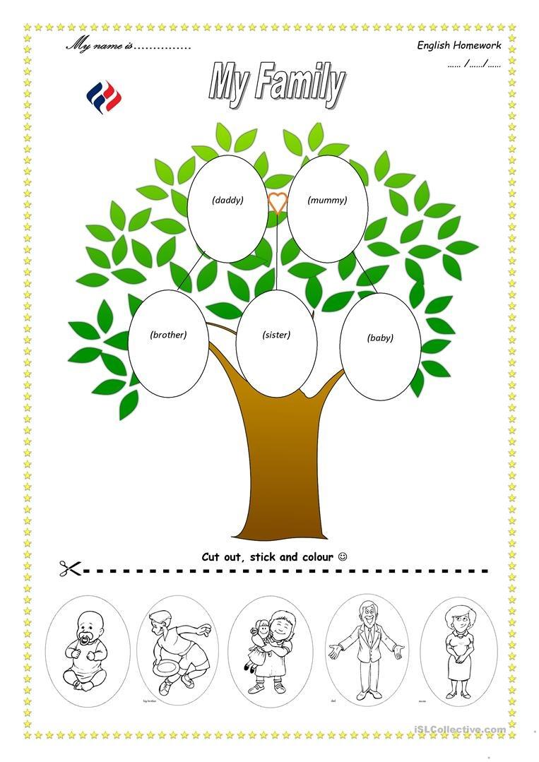 Family Tree Worksheet - Free Esl Printable Worksheets Madeteachers - My Family Tree Free Printable Worksheets