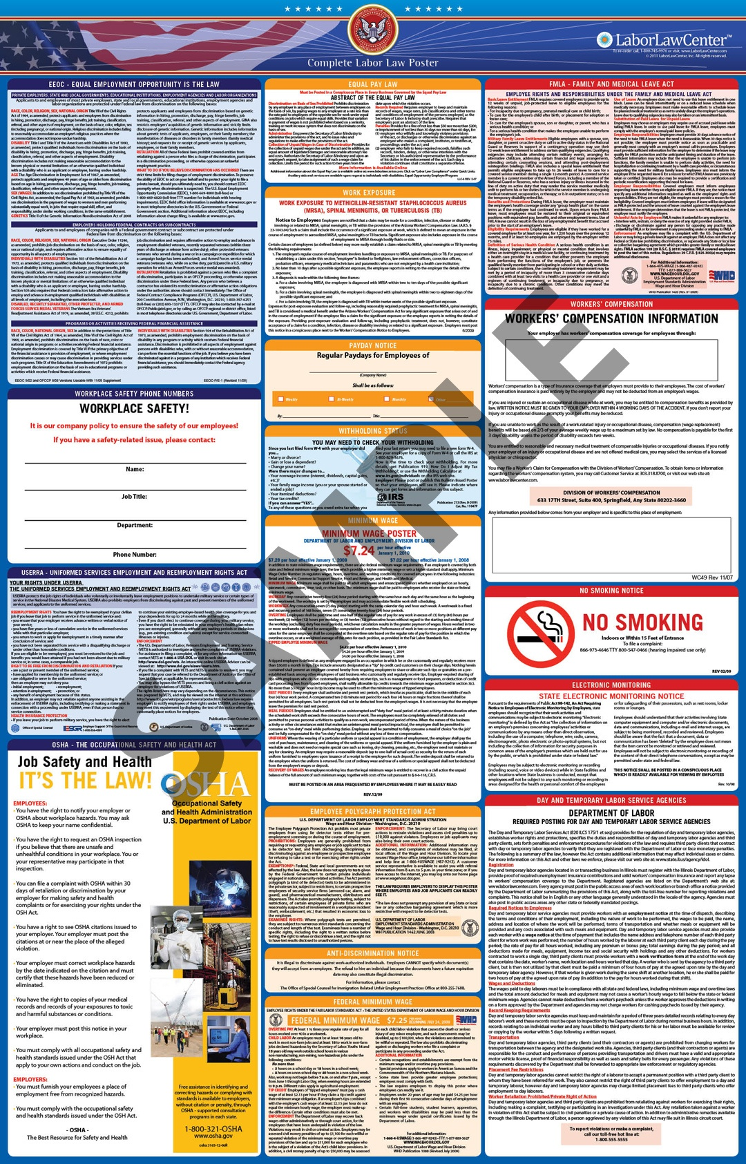 Faqs On Labor Law Posters | Laborlawcenter - Free Printable Osha Safety Posters