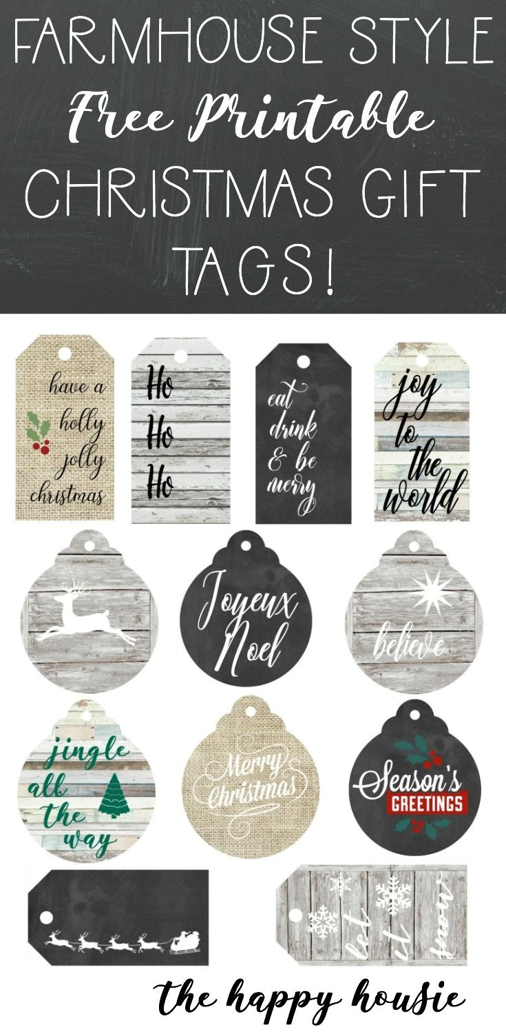 Farmhouse Style Free Printable Gift Tags | Gifts | Gift Tags - Diy Christmas Gift Tags Free Printable