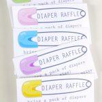 Fascinating Diaper Raffle Ticket Template Ideas Free Owl Printable   Diaper Raffle Free Printable