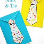 Father's Day Tie Card (With Free Printable Tie Template) | Fathers   Free Printable Tie