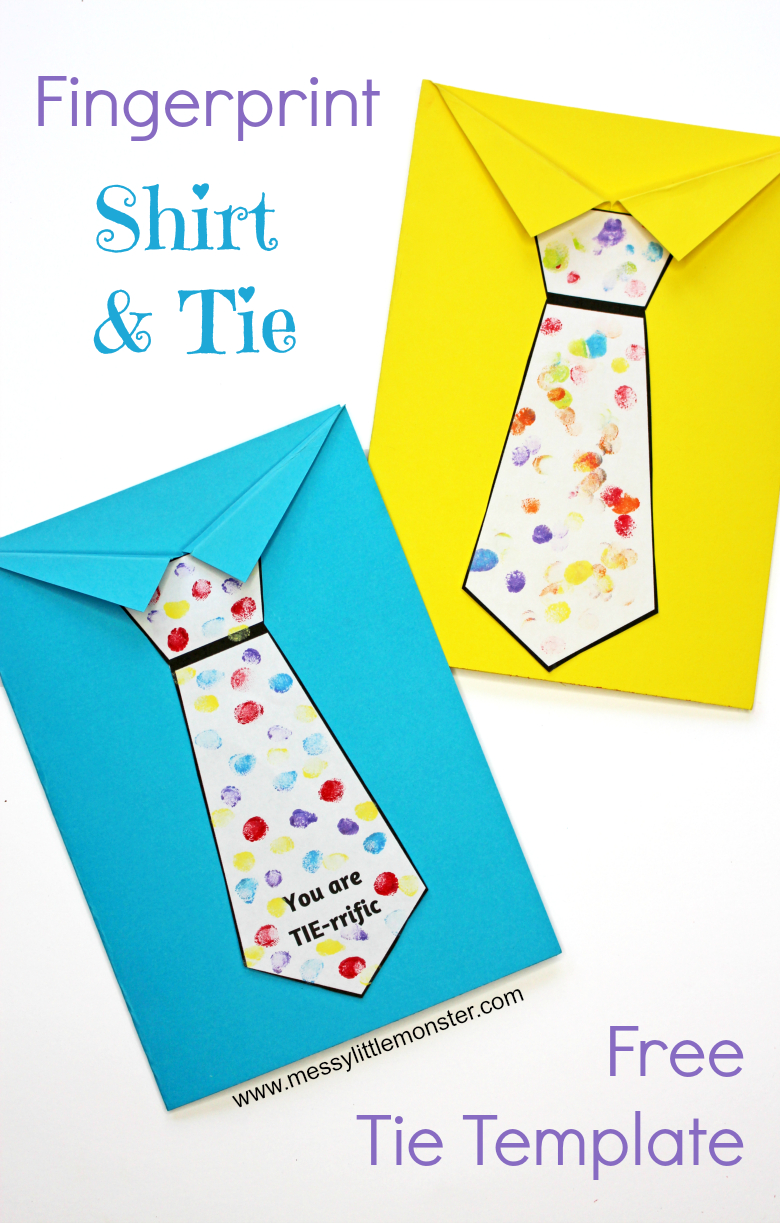 Father's Day Tie Card (With Free Printable Tie Template) | Fathers - Free Printable Tie