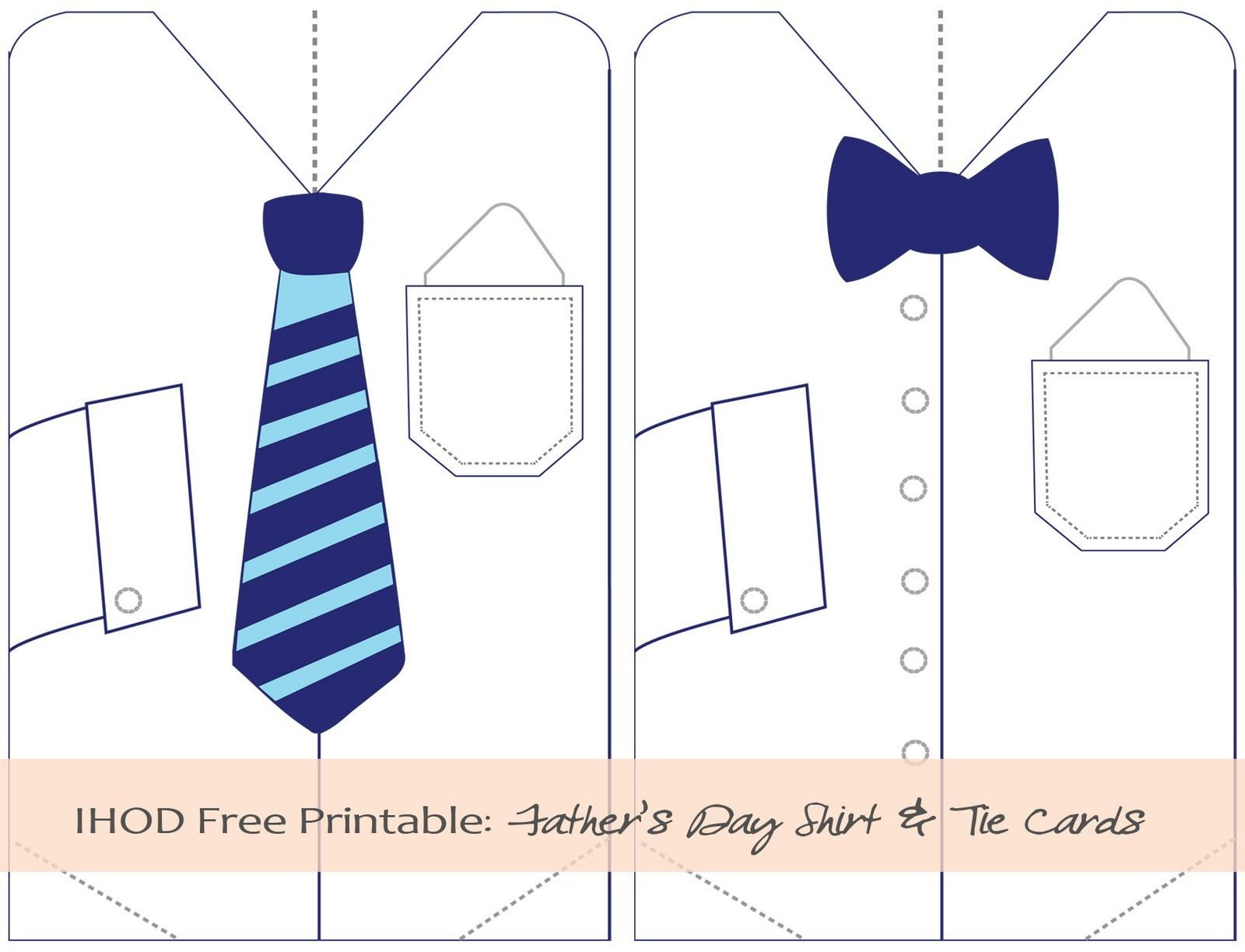 Father's Day Tie Printables | In Honor Of Design: Diy: Free - Free Printable Tie