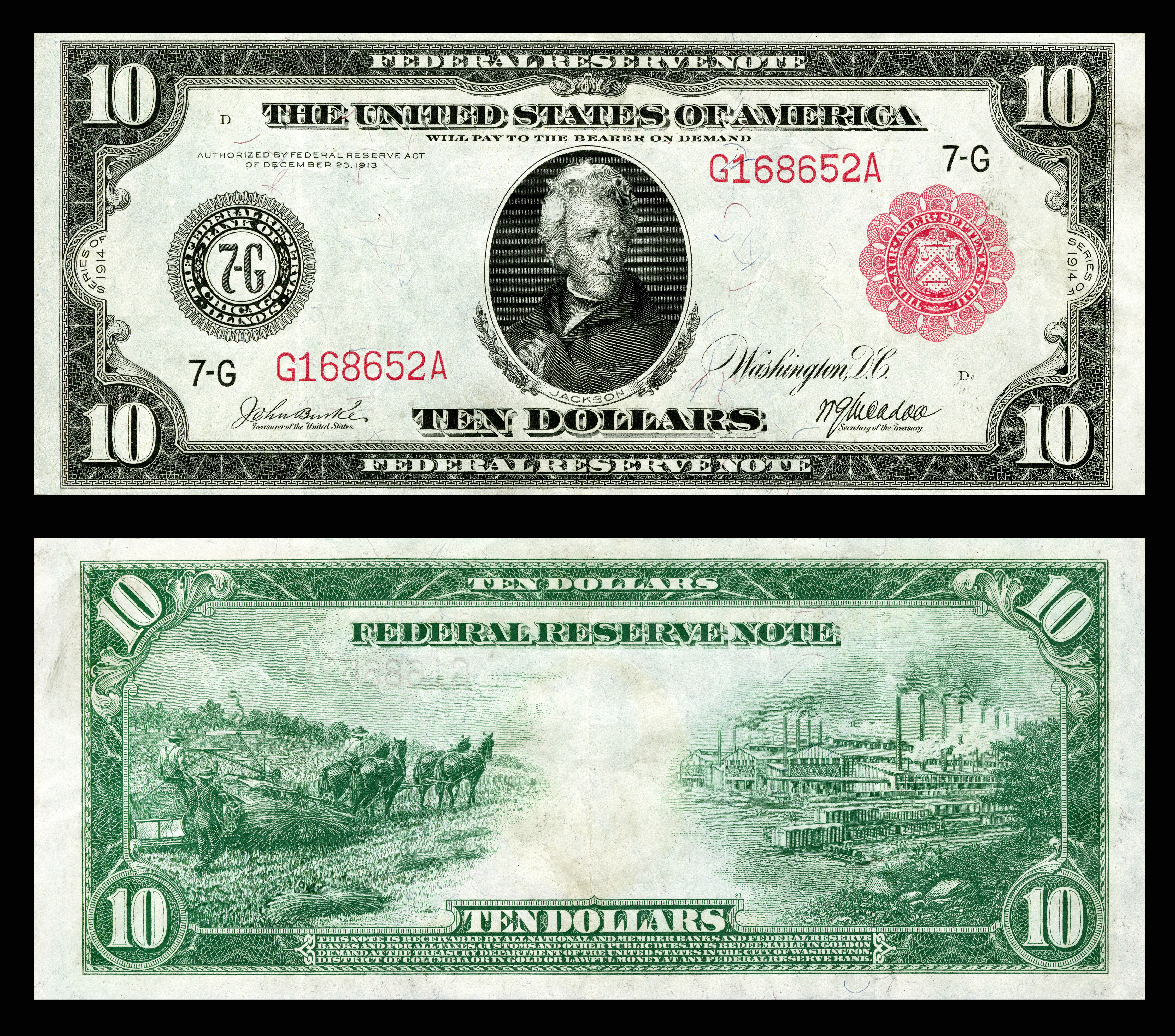 Federal Reserve Note - Wikipedia - Free Printable Million Dollar Bill