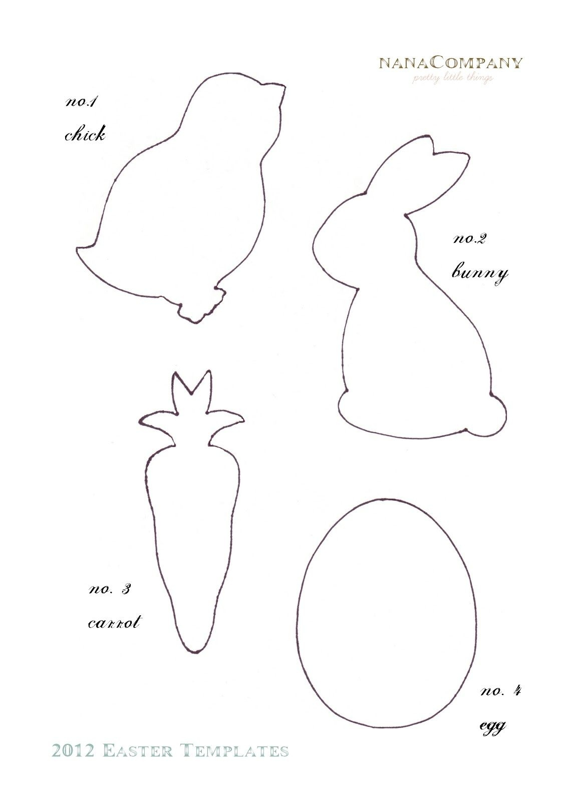 Felt Easter Patterns Free   Free+Printable+Easter+Template+For+ - Free Printable Easter Bunting