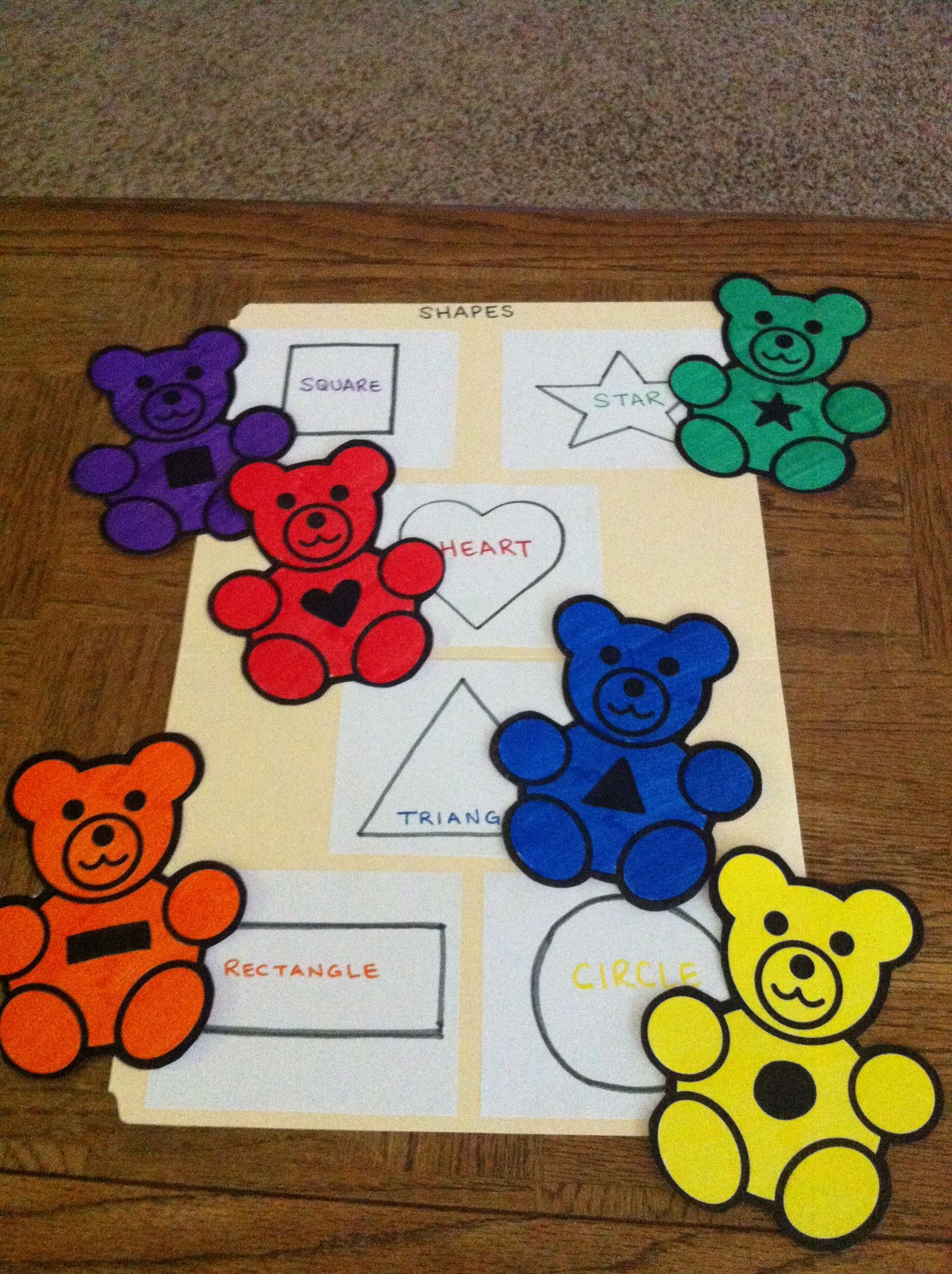 File Folder Game For Preschoolers-- Shape Matching | Teaching - Free Printable Math File Folder Games For Preschoolers