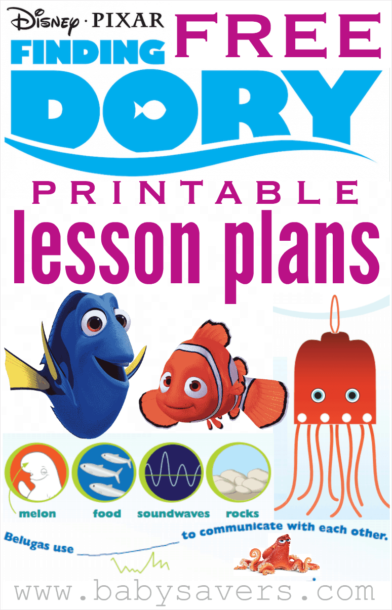 Finding Dory Lesson Plans For Teachers Or Parents - Free Nemo Printables