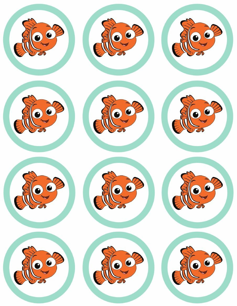 Finding Nemo Party {Free Printables} | Diy Party Nemo Dory | Nemo Cake - Free Nemo Printables