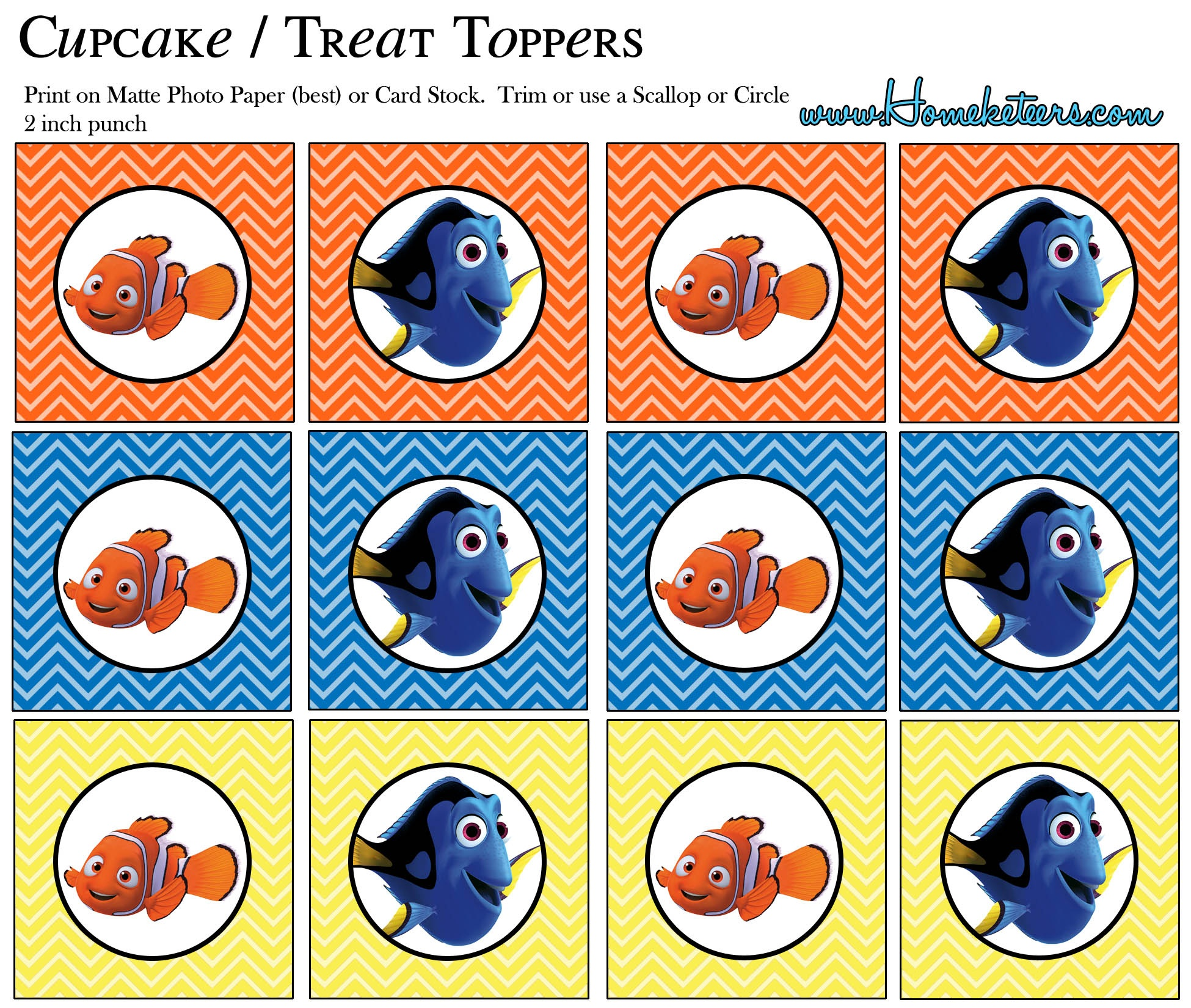 Finding Nemo Party Printables {Free} - Free Nemo Printables