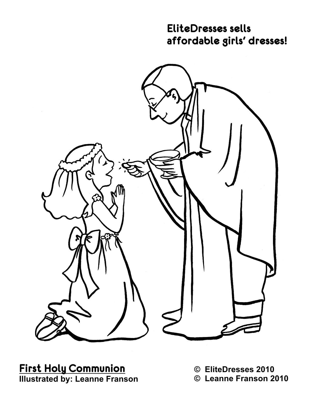 First Communion Coloring Pages Free | Free Coloring Pages For Kids - Free Catholic Coloring Pages Printables